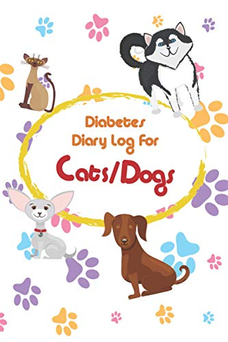 Diabetes diary log for dog, cat: Cool diabetic blood sugar...