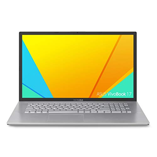 "ASUS VivoBook S17 S712 Thin and Light 17.3"" FHD Display, AMD Ryzen 5 5500U CPU, 8GB DDR4 RAM, 128GB PCIe NVMe SSD + 1TB HDD, Windows 10 Home, Transparent Silver, S712UA-DS54"