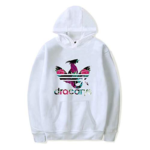 JinYiny Dracarys Floral Tropical Got Dragon Sudadera con Capucha Impresión Unisex 3D Sudaderas Bolsillos Juego Programa de televisión Tronos Sudaderas