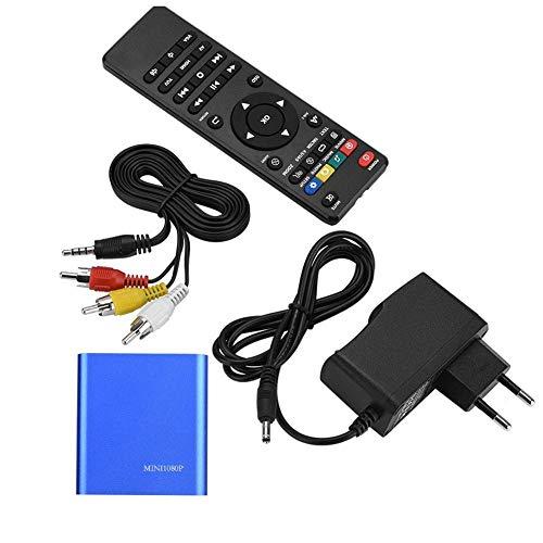 Liujaos Reproductor Multimedia HD, Reproductor Multimedia Plug and Play de Sonido Envolvente estéreo de Amplia compatibilidad, para TV(Transl, Blue, European regulations)
