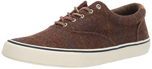 Sperry Mens Striper II CVO Wool Plaid Sneaker, Brown Plaid, 9 -  STS19811-200-9 M US