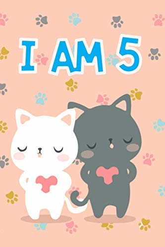 Cat Journal I am 5: Journal and Notebook for Girls - A Happy Birthday 5 Years Old Unicorn Journal Notebook for Kids - Composition Size ... for Journal, Doodling, Sketching and Notes