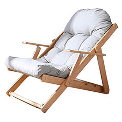 RECLINERS al aire libre ocio madera maciza silla de salón balcón cubierta silla jardín silla al aire libre tumbona portátil cubierta silla para uso al aire libre