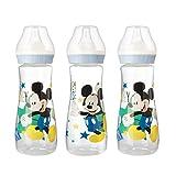 Lot de 3 Biberons Mickey Mouse Disney 250 ml