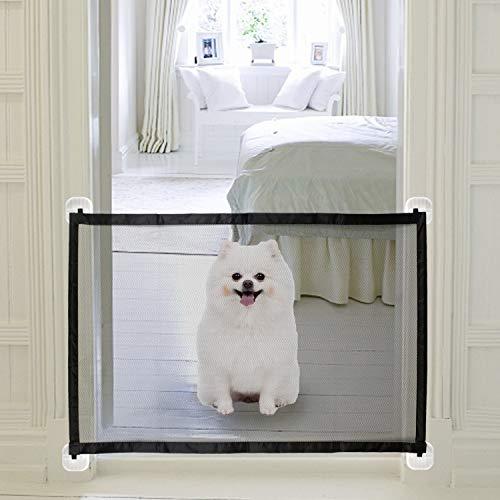KATELUO Puerta Mágica para Perros, Magic Gate Dog, Puerta Mágica para Perros, para Mascotas, Adecuado para Perros, Gatos, Pasillos, Cocinas, Dormitorios, Escaleras. (110 x 72cm)