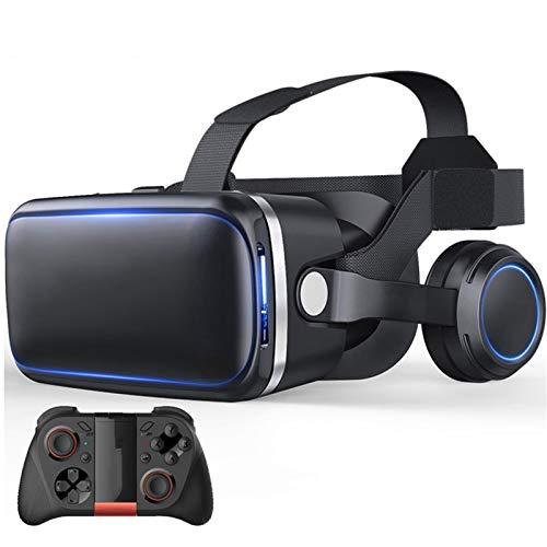 Nuevas gafas 3D VR suaves y cómodas VR Auricular Realidad Virtual Auriculares VR Gafas Gafas HD Lente HD para Películas VR 3D Videojuegos para iPhone 12/11 / X / 8/7/6 para Samsung S10 / S9 / Nota10 /