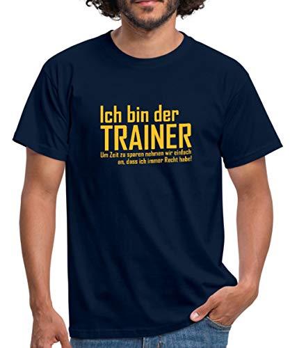 Trainer Hat Immer Recht Spruch Männer T-Shirt, L, Navy