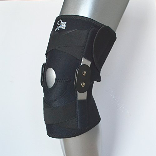 Knee Support Twin Hinged Medical Grade Breathable Open Patella Brace for Ligament Repair Arthritic Knees Strains Sprains Pain Instability Recovery Rehabilitation ONE Size FITS All