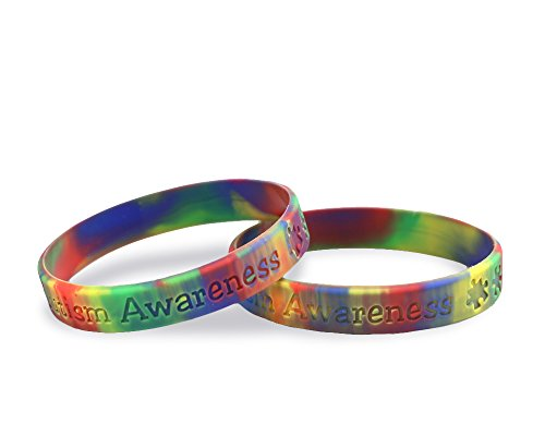 Fundraising For A Cause | Autism Awareness Silicone Bracelet – Inexpensive Asperger's & Autism Awareness Rubber Wristband - Autism Jelly Bracelet (1 Bracelet)