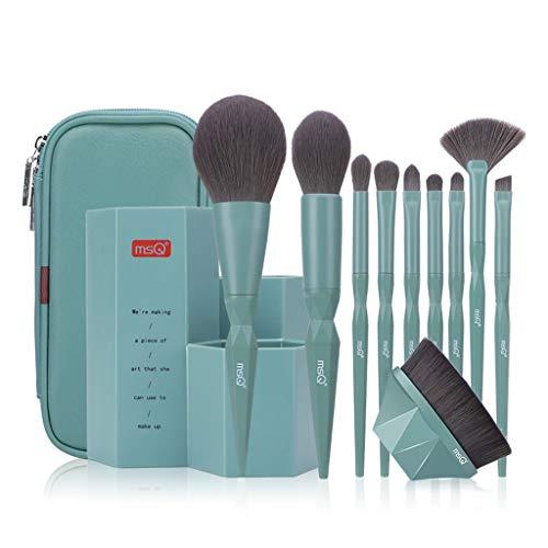 chenpaif 10Pcs / Set Brosses cosmétiques Professionnelles Ombre à paupières Eyeliner Lip Foundation Brush
