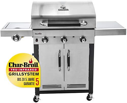 Char-Broil Advantage Series™ 345S - 3 Brenner Gasgrill mit Seitenbrenner, Edelstahl.