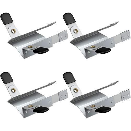 BASI® - 2 pares de pinzas antirrobo, para persianas y ventanas