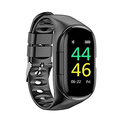 ZYY Adecuado para Android IOSM1 Smart Watch, Pulsera Inteligente 2 En 1 con Auriculares Bluetooth Medición De La Distancia del Podómetro del Podómetro,B