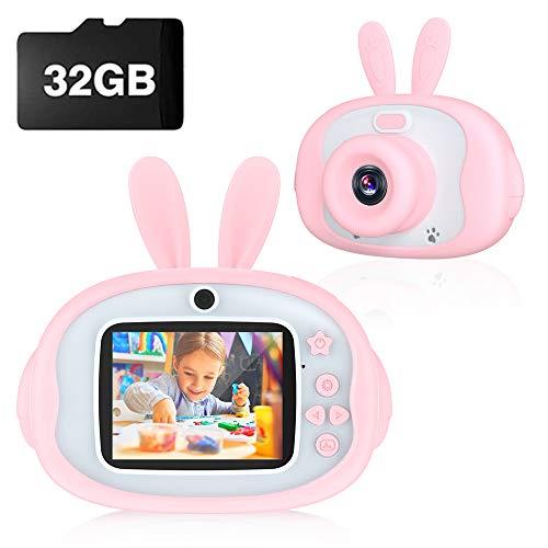 Cámara de Fotos Digital con 32GB Tarjeta SD y Acollador, con LCD 1080P HD de 2.4 Pulgadas Pantalla