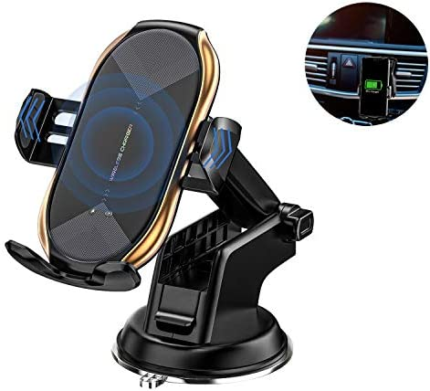 Wireless Car Charger Mount Fast Charging Auto Clamping Car Phone Holder Mount Car Air Vent Holder product image
