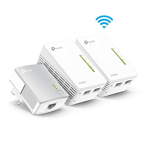TP-Link WPA4220T Kit 2 Porte Powerline Adapter WiFi Starter Kit, Range Extender, Banda Larga/WiFi Extender, WiFi Booster/Hotspot, No configu