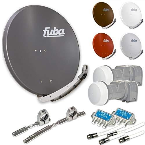 Fuba DAA 850 HD Digital Sat Anlage 2 Teilnehmer 2 Satelliten | bis zu 24° Abstand, bspw. Astra/Hotbird oder Astra/Sirius