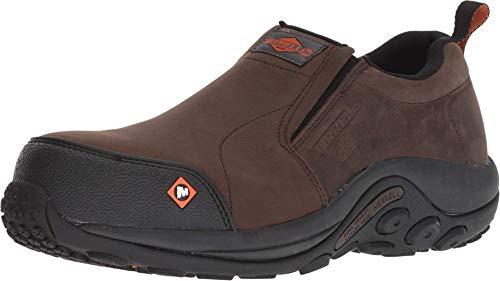 Merrell Men's Jungle MOC Static Dissipative Composite Toe Construction Shoe, Espresso, 9.5 M US