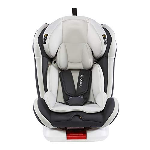 WWLONG Cómodo Asiento para automóvil para niños, arnés Cubierta Refuerzo con Clip cinturón Seguridad para niños, Interfaz ISOFIX,cojín para Asiento Seguridad para niños,Sentarse y acostarse-Fixedseat