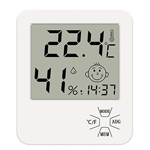 Casinlog LCD electrónico digital temperatura humedad medidor interior exterior termómetro higrómetro estación meteorológica reloj