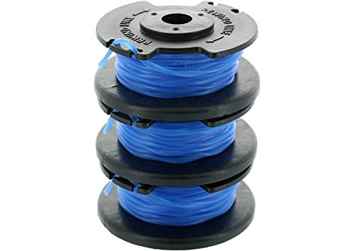 Ryobi One+ AC14RL3A .065 Line and Spool Replacement for Ryobi 18v, 24v, and 40v Cordless Trimmers (3 Pack)