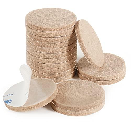 Möbelgleiter, Bodenschutz, 18 Stück, 50 mm, Filz, Stuhlfüße, 5 mm dick, zum Schutz Ihrer Holzböden (beige)
