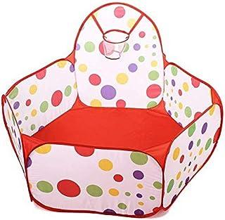 صندوق لعب ومحبس كرات بقياس 1.2 متر قابل للطي للاطفال لرحلات البحر او حوض السباحة، مناسب للاستخدام من قبل الاطفال