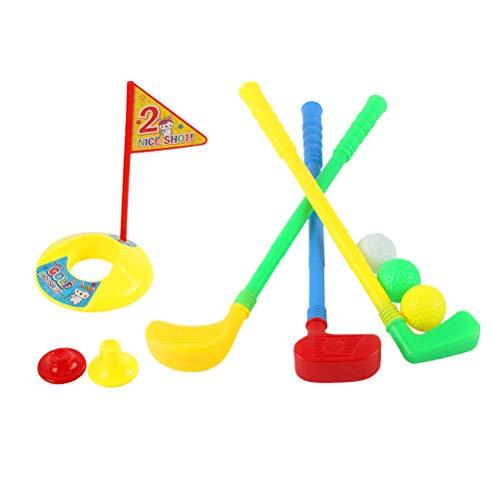 LIOOBO Juego de Juguetes de plástico para golfistas y niños pequeños Juego de Golf para niños, niños (aleatorización de Color)