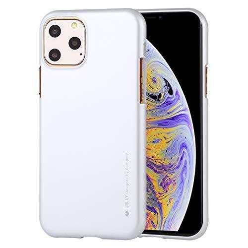 Wckxy Funda telefónica, a Prueba de Golpes y Scratch Case para iPhone 11 Pro (Color : Silver)