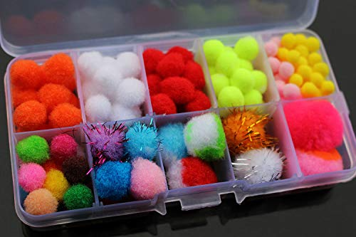 Tigofly 100 pcs Assorted Egg Glo Bug Fly Fishing Trout Egg Fly Tying Materials Free Box
