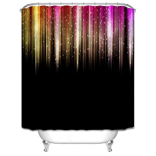 Amody Duschvorhang Durchsichtig Waschbar Fackel Polyester Duschvorhang Antischimmel Stoff 165x180CM Vorhänge Bad Fenster