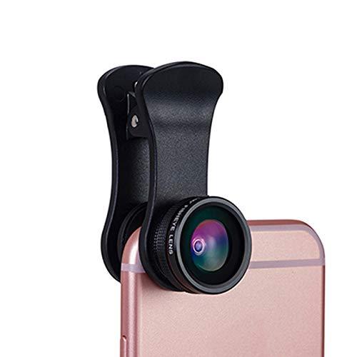 Matedepreso Lente para cámara de teléfono, 3 en 1, multifunción, portátil, gran angular, para tablet, kit de lentes macro, compatible con la mayoría de los teléfonos inteligentes