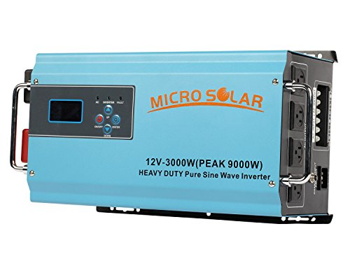 MicroSolar 12V 3000W HEAVY DUTY Inverter