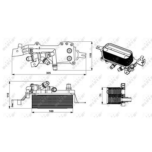 NRF 31749 - Enfriador de aceite de motor