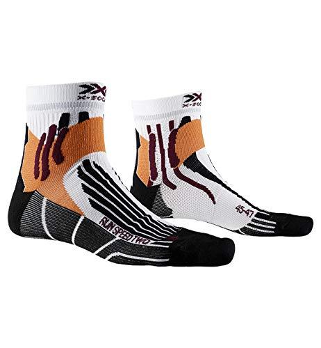 X-Socks Run Speed Two Socks, Unisex Adulto, Arctic White/Opal Black, 42-44