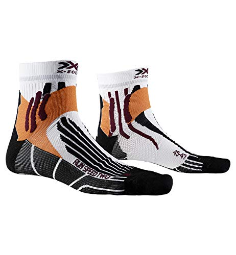 X-Socks Run Speed Two Socks, Unisex – Adulto, Arctic White/Opal Black, 42-44