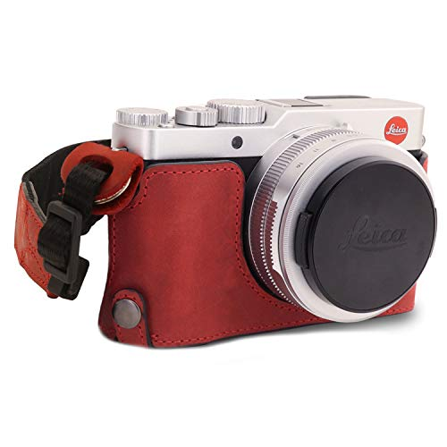 MegaGear MG1695 Ever Ready - Funda de Piel para cámara Leica D-Lux 7, Color Rojo