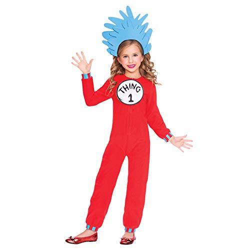 amscan Dr. Seuss Ding 1 & Ding 2 Jumpsuit Kostüm Kinder Unisex