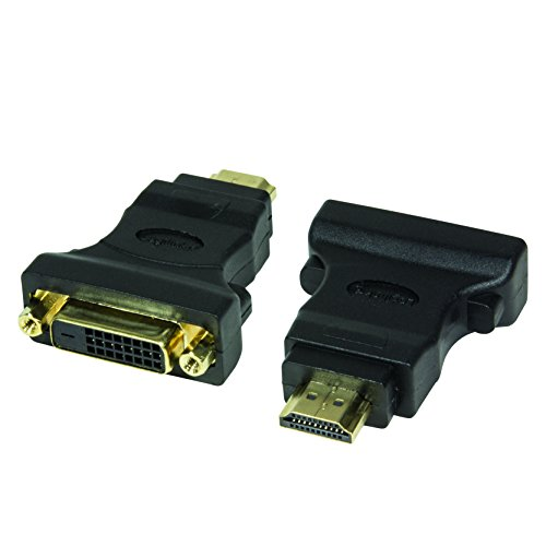 LogiLink DVI-D Adapter Digital (DVI Dual Link Belegung 24+1) zu HDMI, unterstützt alle HDTV und HD ready Standards