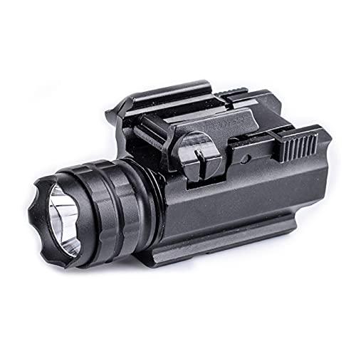 N \ A Gun Light 250 lúmenes Luz de Pistola compacta LED táctica para Picatinny MIL-STD-1913 y Glock Pistol Light, Alimentado por 1 batería CR123A