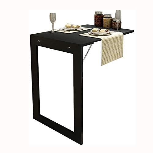 AOIWE Mesa de pared plegable para mesa de comedor con soportes, color blanco, 90 x 60 x 75 cm (tamaño: 74 x 45 x 75 cm)