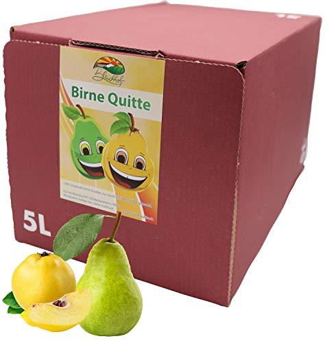 Bleichhof Birne-Quitten Saft - 100% Direktsaft, vegan, OHNE Zuckerzusatz, Bag-in-Box (1x 5l Saftbox)