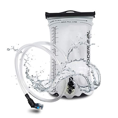 MB52 - 2 Liter Trinkblase - Wasserblase mit 95 cm Schlauch und Beißventil, Trinksystem, Hydration Bladder Ideal für Outdoorsport wie Radfahren, Laufen, Wandern oder Nordic Walking