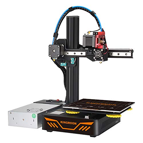 3D Printer, Aluminum Double Linear Guide Rails and Double Cooling Fans with Sound off Function, Intelligent Power Supply with Temperature Control, Easy Assemble Printing Space 180x180x180mm