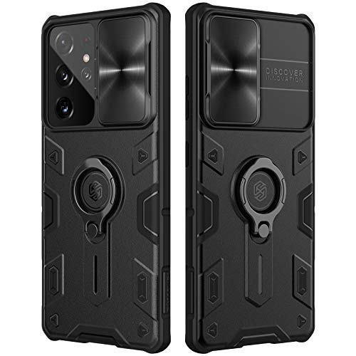 Nillkin Samsung Galaxy S21 Ultra Case, CamShield Armor Slim S21 Ultra Protective Cover Case with Camera Protector Hard PC Anti-Scratch Phone Case for Galaxy S21 Ultra 6.8'' Space Black