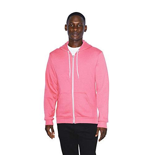 American Apparel Herren Flex Fleece Long Sleeve Zip Hoodie Kapuzenpulli, rosa - deep pink, X-Groß