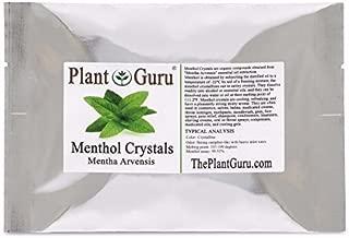 menthol crystals in tea