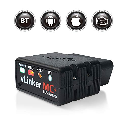 TONWON Vgate vLinker MC OBDII Bluetooth OBD2 Diagnosescanner für IOS, Android und Windows (Bluetooth 4.0)