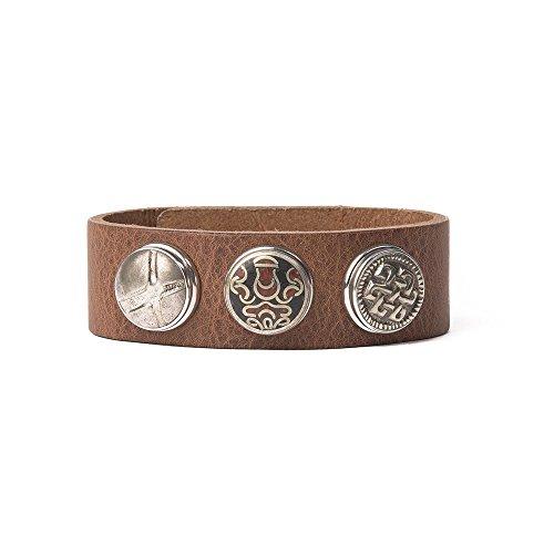 Noosa Armband Wrap Bracelet Classic Skinny midbrown, Grösse:S