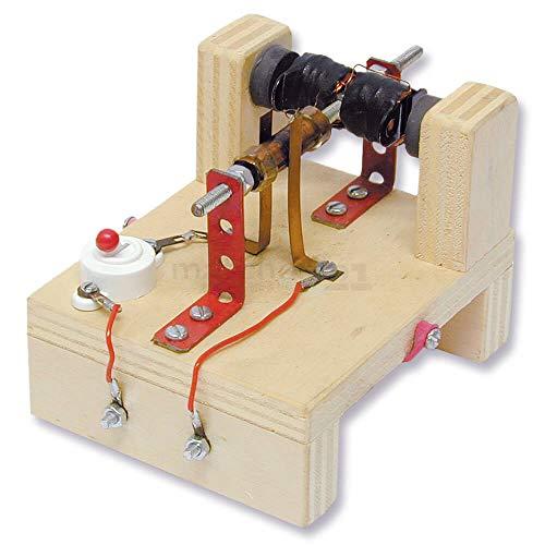 matches21 Elektromotor Modell mit Dauermagnet Bausatz f. Kinder Werkset Bastelset ab 13 Jahren